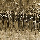 Union muster in sepia by Larry  Grayam