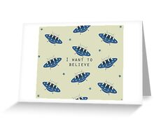 I want to believe - ufo cats Greeting Card