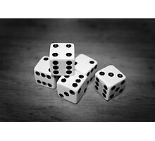6 Sided black & white Photographic Print