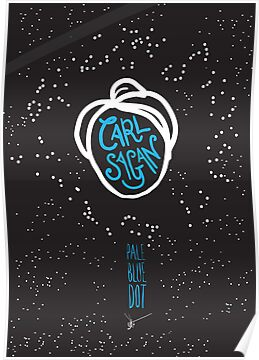 Carl Sagan: Pale Blue Dot by creativepanic