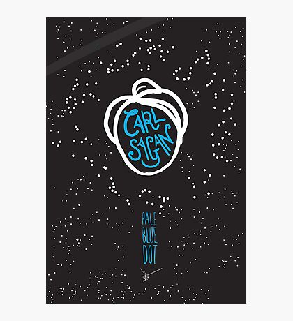 Carl Sagan: Pale Blue Dot Photographic Print