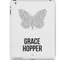 Grace Hopper (Dark Lettering) - Clothing & Other Products iPad Case/Skin