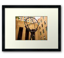 Weight on his shoulders Framed Print