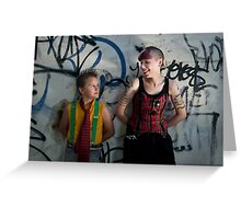 Punk vs Punk Greeting Card