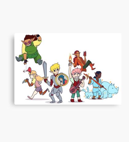 Dungeon Party Canvas Print
