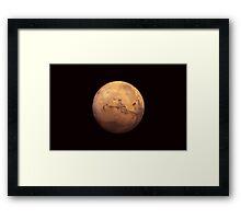 Planet Mars Framed Print