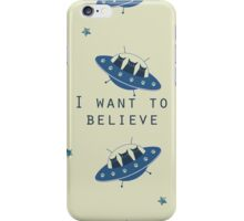 I want to believe - ufo cats iPhone Case/Skin