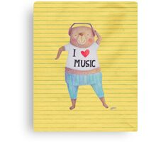 Music Bear Canvas Print