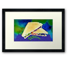 Sammich (large) ...because. Framed Print