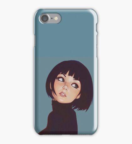 Girl black hair iPhone Case/Skin