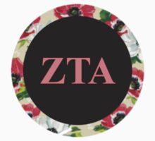 Zeta Tau Alpha Letter Design Kids Tee
