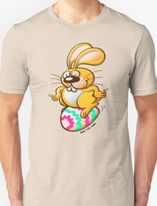 Bunny Sitting on an Easter Egg Unisex T-Shirt