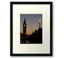 Big Ben Backlit Framed Print