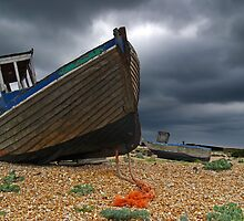 Abandoned Boats, Dungeness, England by Giles Clare