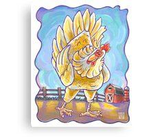 Animal Parade Chicken Canvas Print
