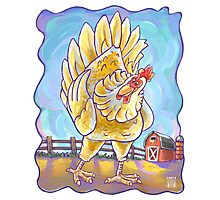 Animal Parade Chicken Photographic Print