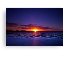 Evening glitter in Hervey Bay Canvas Print
