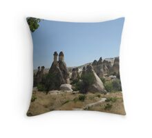 Cappadocia peaks. Throw Pillow