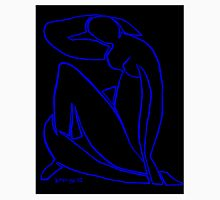 Blue Nude II (black) Unisex T-Shirt