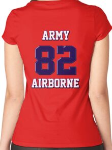 Army 82 Airborne Women's Fitted Scoop T-Shirt