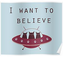 I want to believe - red ufo  Poster