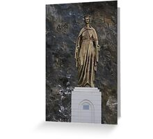 Mary statue Greeting Card