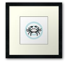 CANCER – Crest Framed Print