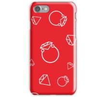 Diamonds on red iPhone Case/Skin