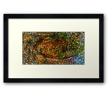 Undersea design warm gold version. Framed Print