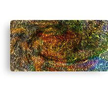 Undersea design warm gold version. Canvas Print