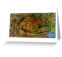 Undersea design warm gold version. Greeting Card