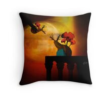 'Honest Goodbye'—Romeo & Juliet with Snails! Throw Pillow