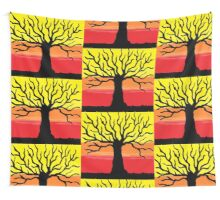 Sunset Tree Wall Tapestry