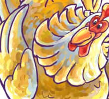 Animal Parade Chicken Silhouette Sticker