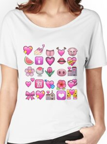 Pink Emojis Women's Relaxed Fit T-Shirt