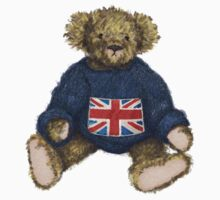 Brit Bear - Teddy with Union Jack by Amanda Latchmore