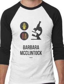 BARBARA MCCLINTOCK (Dark Lettering) - Clothing & Other Products Men's Baseball ¾ T-Shirt