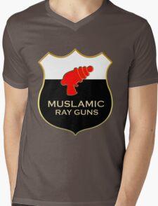 'Muslamic Ray Guns' Large Emblem Mens V-Neck T-Shirt