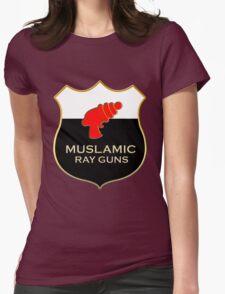 'Muslamic Ray Guns' Large Emblem Womens Fitted T-Shirt