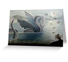 Dragon Charmer - Enchanted Dragon Art Greeting Card