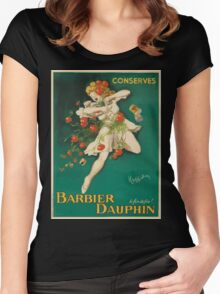 Leonetto Cappiello Affiche Conserves Dauphin Women's Fitted Scoop T-Shirt