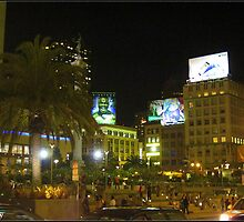 Union Square on a Hot San Francisco Night by Terry Temple