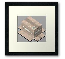 Metal Gear Solid Isometric Framed Print