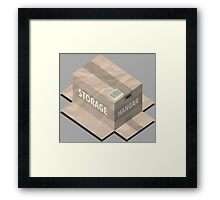 Metal Gear Solid Isometric Framed Print