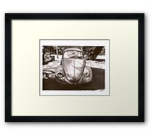 watching in the shadows Framed Print