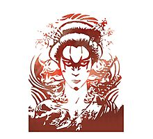 Water Coloured Geisha Photographic Print