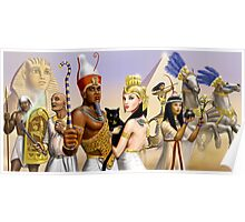 Egyptian Characters Poster