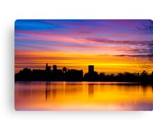 Painting The Sunrise Canvas Print