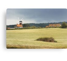 Pillbox Landscape - Weybourne, Norfolk, UK Canvas Print