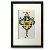 Angelfish Cartoon Framed Print